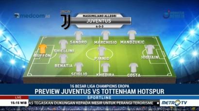 Perkiraan Formasi Juventus vs Tottenham