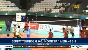 Tekuk Jepang 3-2, Tim Voli Indonesia 1 Puncaki Klasemen