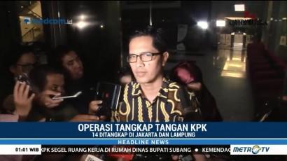 KPK Amankan 14 Orang dalam OTT di Lampung Tengah