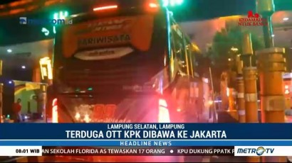 Anggota DPRD Lampung Tengah yang Terjaring OTT KPK Dibawa ke Jakarta