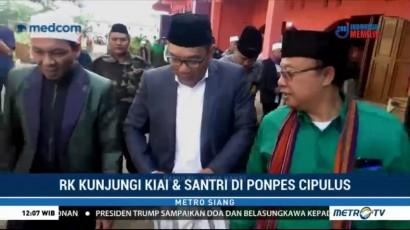 Kampanye Perdana, Ridwan Kamil Temui Kiai dan Santri di Ponpes Cipulus