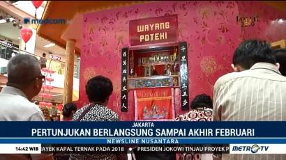 Sambut Imlek, Sebuah Mal di Jakarta Gelar Pertunjukan Wayang Potehi