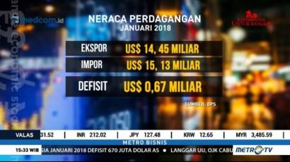 Nilai Impor Indonesia Periode Januari Naik 26 Persen