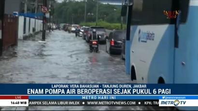 Banjir di Kawasan Duri Kepa Berangsur Surut