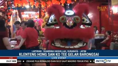 Barongsai Meriahkan Imlek di Klenteng Hong San Ko Tee