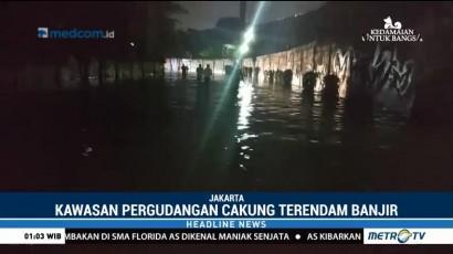 Hujan Deras, Kawasan Pergudangan Cakung Terendam Banjir