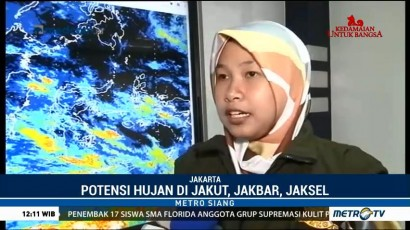 Jakarta Berpotensi Diguyur Hujan dalam Seminggu ke Depan