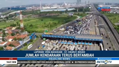 <i>Contra Flow</i> Diterapkan di Tol Jakarta-Cikampek