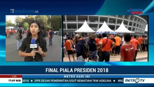 Jelang Laga Final Presiden, Suporter Sudah Padati SUGBK