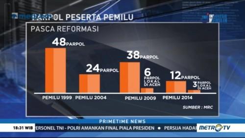 Naik Turun Jumlah Parpol Peserta Pemilu