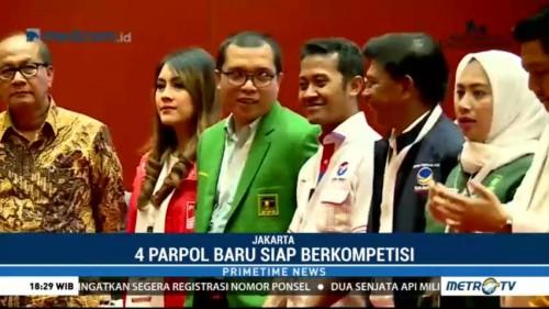 Empat Partai Politik Baru Siap Bersaing di Pemilu 2019