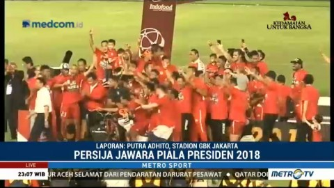 Persija Jawara Piala Presiden 2018