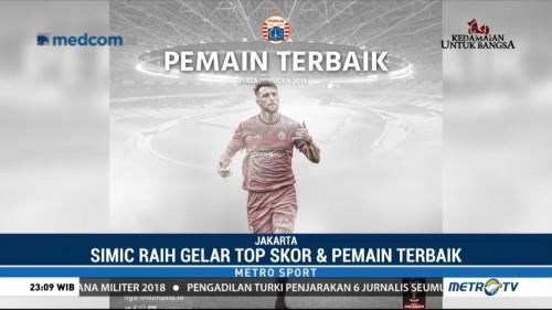 Simic Raih Gelar Top Skorer dan Pemain Terbaik Piala Presiden