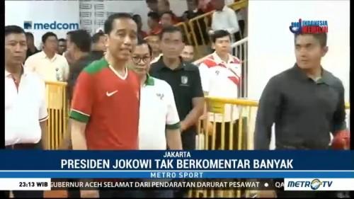 Presiden tak Berkata Banyak Usai Laga Final Piala Presiden 2018