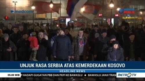 Warga Serbia Protes Kemerdekaan Kosovo