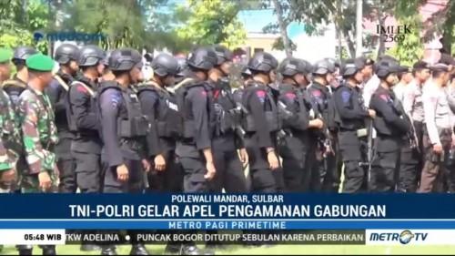 TNI-Polri Gelar Apel Pengamanan Gabungan di Polewali Mandar