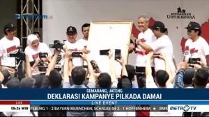 Paslon Gubernur Jateng Deklarasikan Pilkada Damai