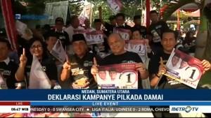 Edy Rahmayadi Tiba di Lokasi Deklarasi Kampanye Damai
