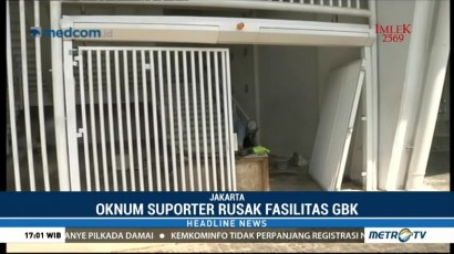 Sejumlah Fasilitas SUGBK Rusak Usai Final Piala Presiden 2018