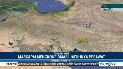 Pesawat Komersil Iran Jatuh, 66 Orang Tewas