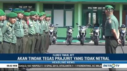TNI di Flores Timur Menjamin Netral dalam Pilgub NTT