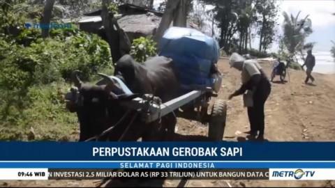 Unik, Ada Perpustakaan Gerobak Sapi di Lampung