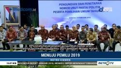 Pengundian Nomor Urut 14 Parpol Peserta Pemilu 2019
