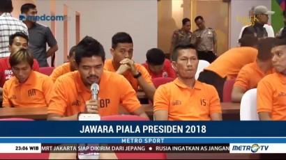 Rayakan Gelar Juara Piala Presiden, Persija Jakarta Gelar Syukuran