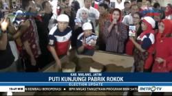 Puti Guntur Soekarno Kunjungi Pabrik Rokok