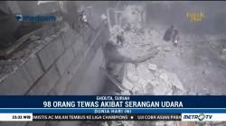 98 Orang Tewas Akibat Serangan Udara di Suriah