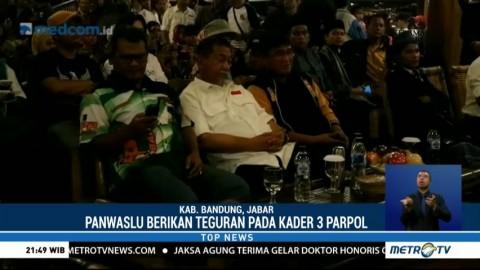Panwaslu Kabupaten Bandung Tegur Kader Tiga Partai Pendukung