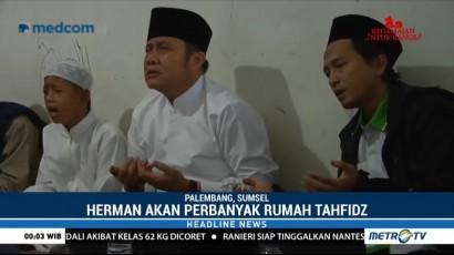 Herman Deru Janji akan Bangun Lebih Banyak Rumah Tahfidz di Sumsel