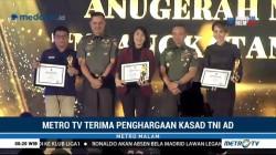 Metro TV Terima Penghargaan dari Kepala Staf TNI AD