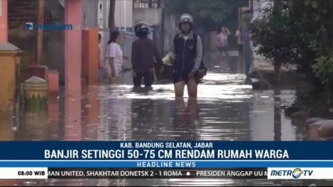Sungai Citarum Meluap, Baleendah & Dayeuhkolot Terendam Banjir