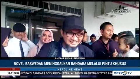 Novel Baswedan Tiba di Jakarta