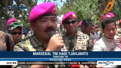 Panglima TNI Dikukuhkan Jadi Warga Kehormatan Korps Marinir