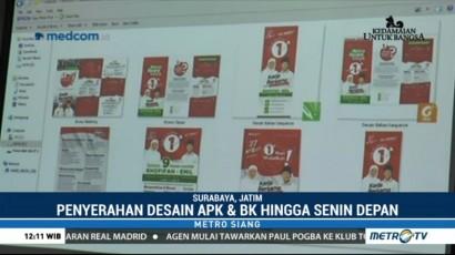 Tim Kampanye Kandidat Pilgub Jatim Belum Serahkan Desain APK ke KPU