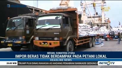 Beras Impor dari Thailand Tiba di Pelabuhan Belawan