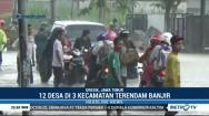 Tiga Kecamatan di Gresik Terendam Banjir