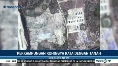 Perkampungan Rohingya Rata dengan Tanah
