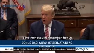 Trump Usulkan Beri Bonus Guru yang Bawa Senjata