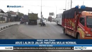 Banjir Surut, Lalu Lintas di Pantura Kembali Normal