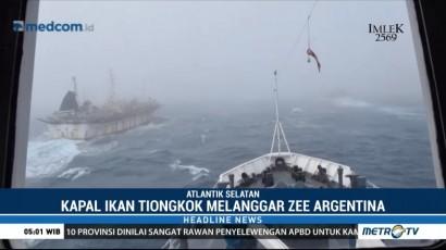 Kapal Patroli Argentina Kejar Kapal Pencuri Ikan Asal Tiongkok