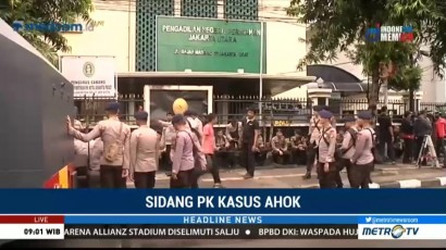 Aparat Gabungan Jaga Ketat Sidang PK Ahok