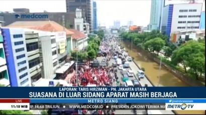 Sidang PK Ahok Selesai, Massa Mulai Membubarkan Diri