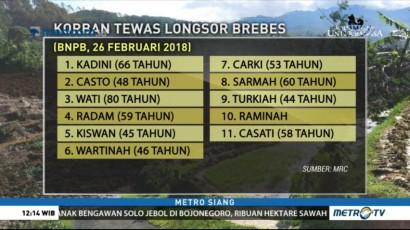 Daftar Korban Tewas Longsor di Brebes