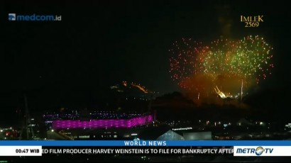 Fireworks Close 2018 Winter Olympics