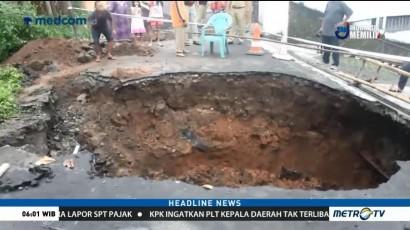 Jalan Penghubung Antar Desa di Semarang Ambles