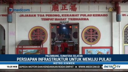 Pulau Kemaro Bersiap Sambut Cap Go Meh