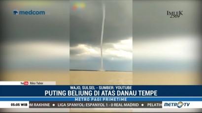 Puting Beliung 'Belalai Air' Terjang Kabupaten Wajo